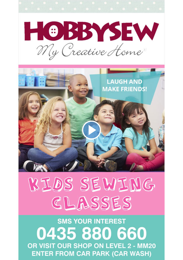 POS Video - Kids Sewing Classes